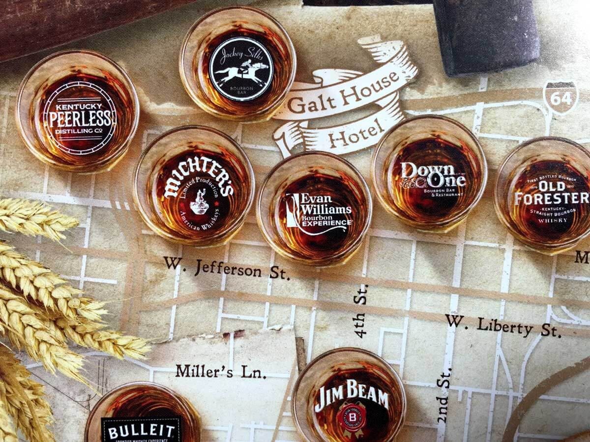 Galt House Hotel Bourbon Map