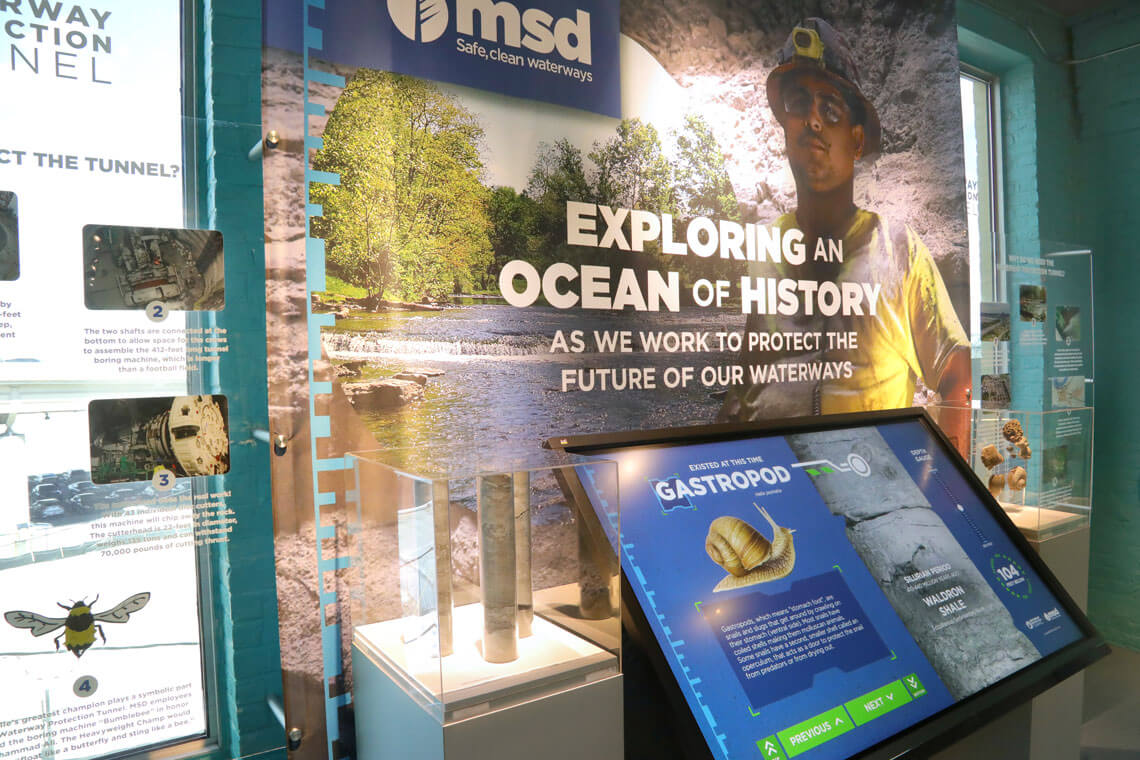 MSD Waterway Protection Tunnel Exhibit at the Kentucky Science Center