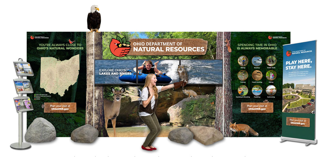 Ohio Department of Natural Resources Tradeshow Exhibit